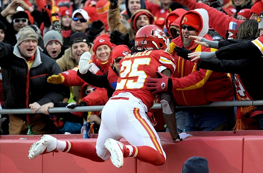 Chiefs Coach Andy Reid And Players Jamaal Charles And