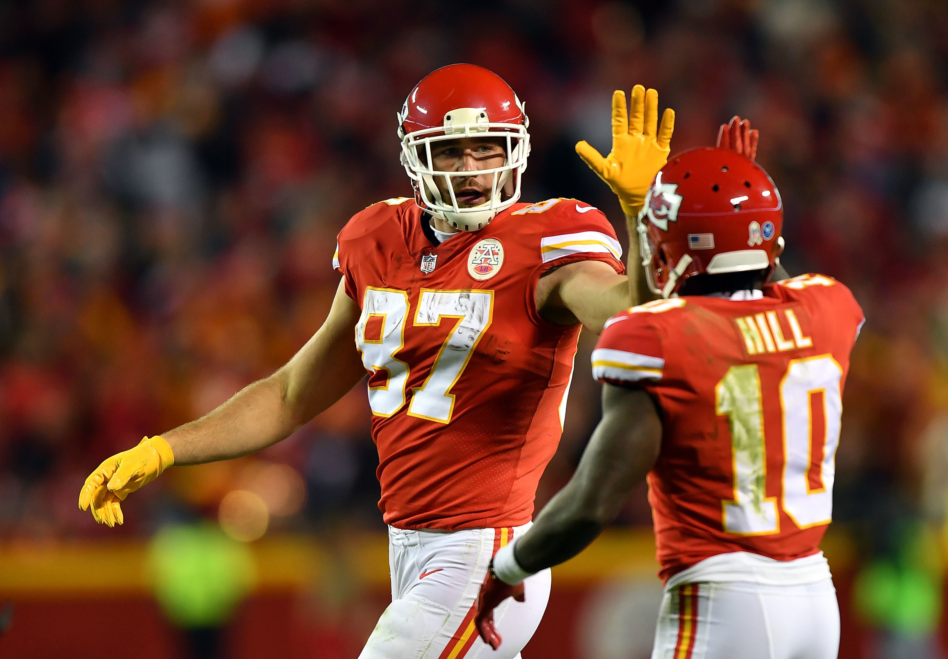 Image result for Travis Kelce and Tyreek Hill